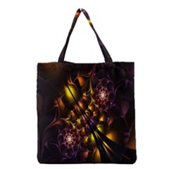 Art Design Image Oily Spirals Texture Grocery Tote Bag
