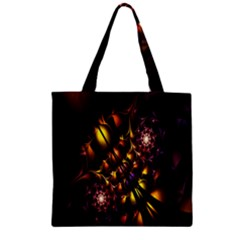 Art Design Image Oily Spirals Texture Zipper Grocery Tote Bag