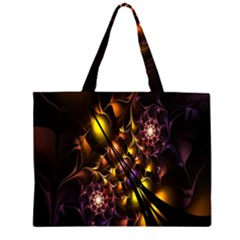 Art Design Image Oily Spirals Texture Large Tote Bag