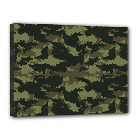 Camo Pattern Canvas 16  X 12