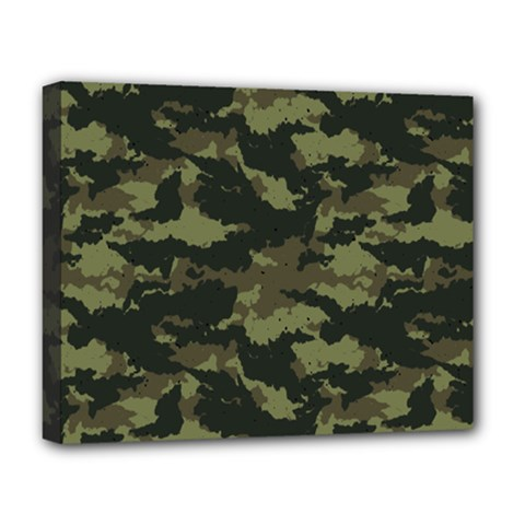 Camo Pattern Deluxe Canvas 20  x 16