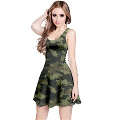 Camo Pattern Reversible Sleeveless Dress