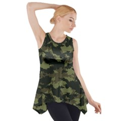 Camo Pattern Side Drop Tank Tunic