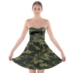 Camo Pattern Strapless Bra Top Dress