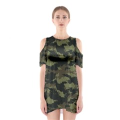 Camo Pattern Shoulder Cutout One Piece