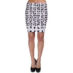 Anchor Puzzle Booklet Pages All Black Bodycon Skirt