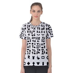 Anchor Puzzle Booklet Pages All Black Women s Cotton Tee