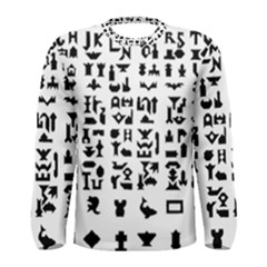 Anchor Puzzle Booklet Pages All Black Men s Long Sleeve Tee