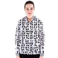 Anchor Puzzle Booklet Pages All Black Women s Zipper Hoodie