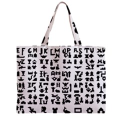 Anchor Puzzle Booklet Pages All Black Zipper Mini Tote Bag