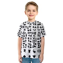 Anchor Puzzle Booklet Pages All Black Kids  Sport Mesh Tee