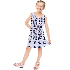 Anchor Puzzle Booklet Pages All Black Kids  Tunic Dress