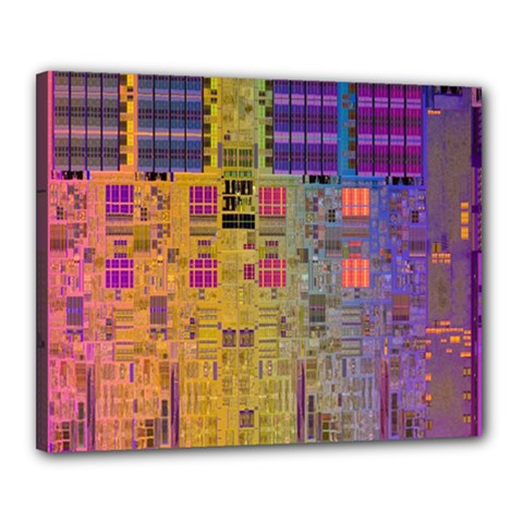 Circuit Board Pattern Lynnfield Die Canvas 20  X 16