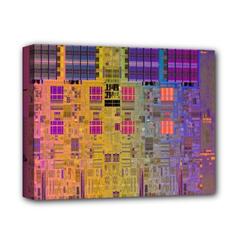 Circuit Board Pattern Lynnfield Die Deluxe Canvas 14  x 11