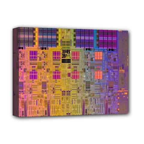 Circuit Board Pattern Lynnfield Die Deluxe Canvas 16  x 12