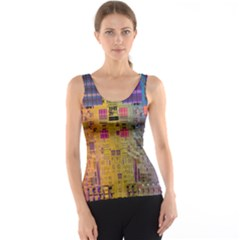 Circuit Board Pattern Lynnfield Die Tank Top