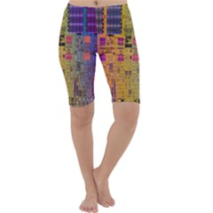 Circuit Board Pattern Lynnfield Die Cropped Leggings