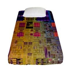 Circuit Board Pattern Lynnfield Die Fitted Sheet (single Size)