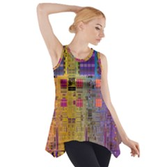 Circuit Board Pattern Lynnfield Die Side Drop Tank Tunic
