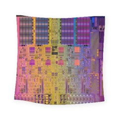 Circuit Board Pattern Lynnfield Die Square Tapestry (small)
