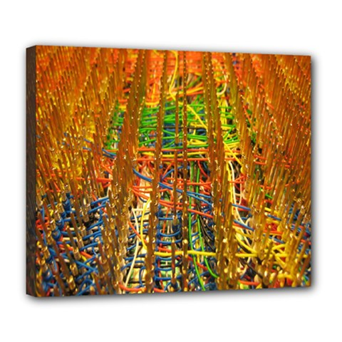 Circuit Board Pattern Deluxe Canvas 24  x 20
