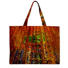 Circuit Board Pattern Zipper Mini Tote Bag