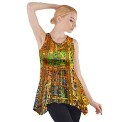Circuit Board Pattern Side Drop Tank Tunic