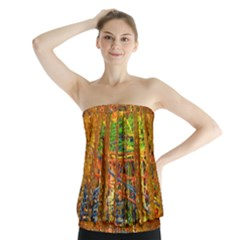 Circuit Board Pattern Strapless Top