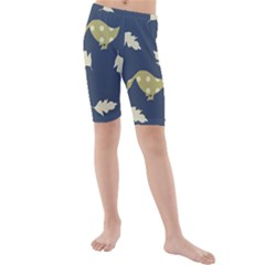 Duck Tech Repeat Kids  Mid Length Swim Shorts