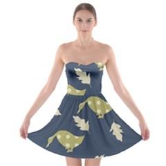 Duck Tech Repeat Strapless Bra Top Dress