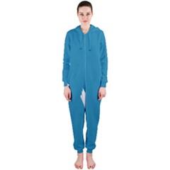 Swan Animals Swim Blue Water Hooded Jumpsuit (Ladies)