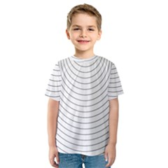 Wave Black White Line Kids  Sport Mesh Tee