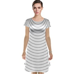 Wave Black White Line Cap Sleeve Nightdress