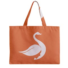 Swan Girl Face Hair Face Orange White Zipper Mini Tote Bag