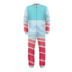 Wave Waves Blue Red OnePiece Jumpsuit (Kids)