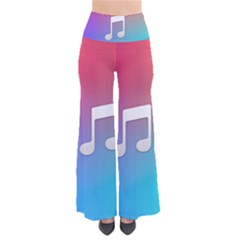 Tunes Sign Orange Purple Blue White Music Notes Pants