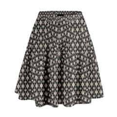 Modern Oriental Pattern High Waist Skirt