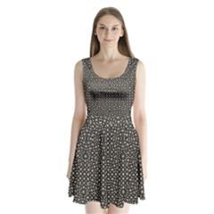 Modern Oriental Pattern Split Back Mini Dress