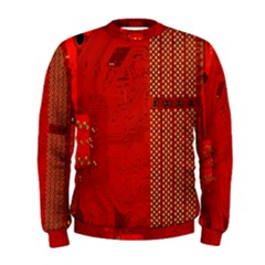 Computer Texture Red Motherboard Circuit Men s Sweatshirt
