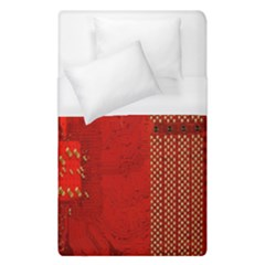 Computer Texture Red Motherboard Circuit Duvet Cover (single Size)