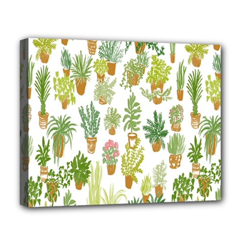 Flowers Pattern Deluxe Canvas 20  X 16