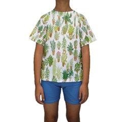 Flowers Pattern Kids  Short Sleeve Swimwear