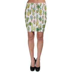 Flowers Pattern Bodycon Skirt