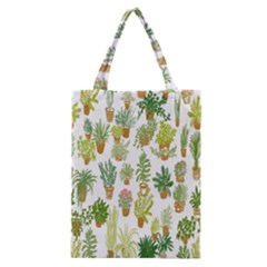 Flowers Pattern Classic Tote Bag