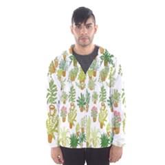 Flowers Pattern Hooded Wind Breaker (Men)
