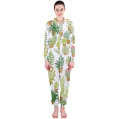 Flowers Pattern Hooded Jumpsuit (Ladies)