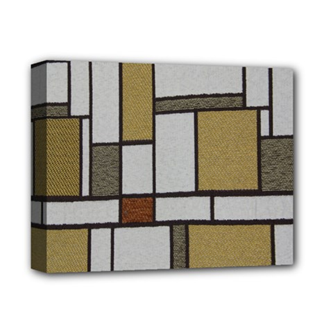 Fabric Textures Fabric Texture Vintage Blocks Rectangle Pattern Deluxe Canvas 14  x 11