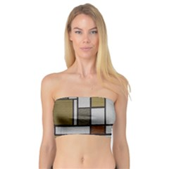 Fabric Textures Fabric Texture Vintage Blocks Rectangle Pattern Bandeau Top