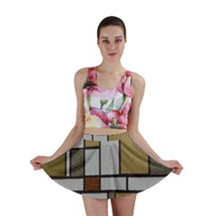 Fabric Textures Fabric Texture Vintage Blocks Rectangle Pattern Mini Skirt