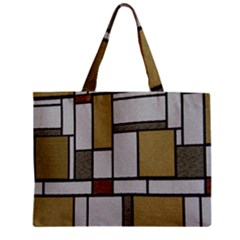 Fabric Textures Fabric Texture Vintage Blocks Rectangle Pattern Mini Tote Bag